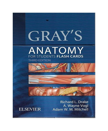 Gray's Anatomy for Students Flash Cards, 3rd Edition