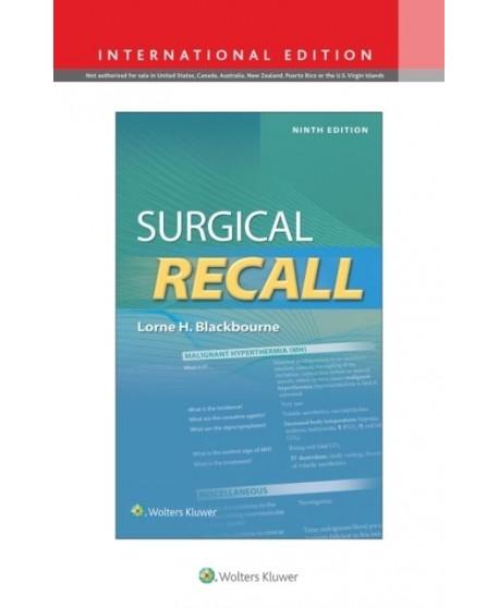 Surgical Recall Ninth edition, International Edition